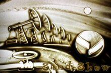 Oil Company | Sand-Show | Sand art