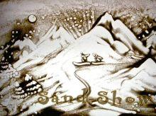 Skiing | Sand-Show | Sand art